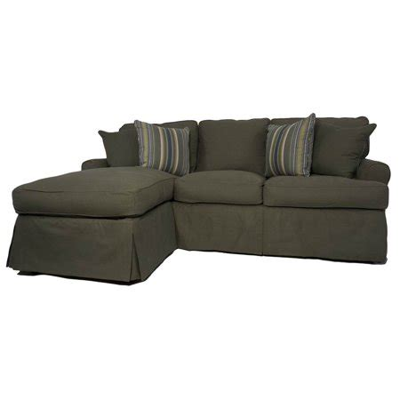 Green Slip Cover by 4 Pc Sleeper Sofa And Chaise Slip Cover Set In Forest
