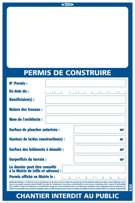 Panneau Permis De Construire Taliaplast Panneau De Signalisation Permis De Construire Point P