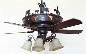 Copper canyon longhorn ceiling fan rustic lighting and fans