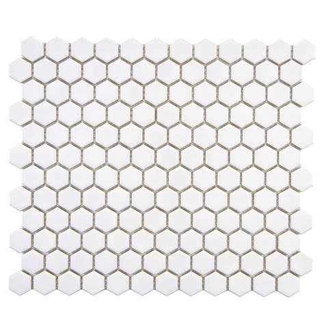 merola tile metro hex glossy white 10 1 4 in x 11 3 4 in