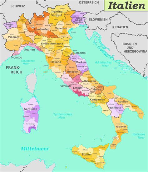 italienische provinzen karte