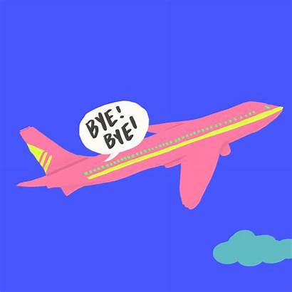 Bye Plane Airplane Animated Fly Vacation Animation