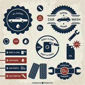 Car badges template set Vector   Free Download