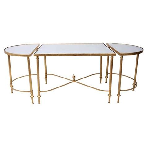 gold mirrored coffee table layne hollywood gold regency mirrored coffee table kathy