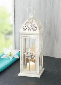 Windlicht Weiß Metall : metall laterne barock weiss gartenlaterne windlicht kerzenhalter gartenlampe kaufen bei ~ Markanthonyermac.com Haus und Dekorationen