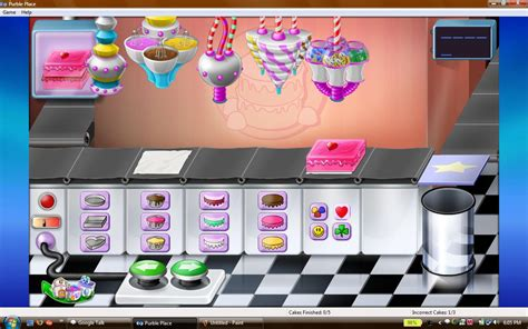 pin purble place cake game games play flash cake  pinterest