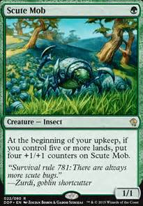 magic the gathering insect deck scute mob mtg card