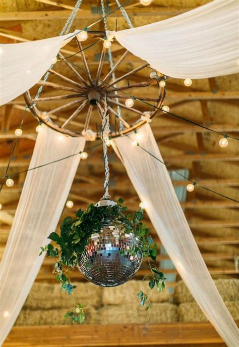 rustic country wedding ideas  wagon wheel details