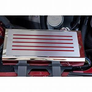 Fuse Box Cover W  Red Carbon Fiber Inlay U0026brushed Top Plate