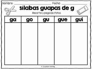 Sílabas guapas - Spanish Phonics Activities for ga, gue ...