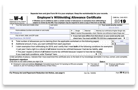 how to fill out 2018 2019 irs form w 4 pdf expert