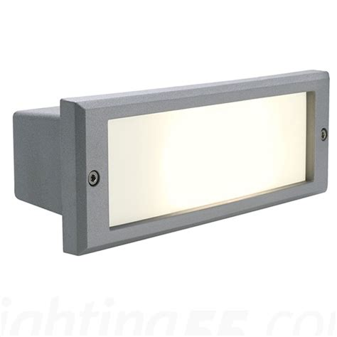 alda outdoor wall recessed light by slv lighting at
