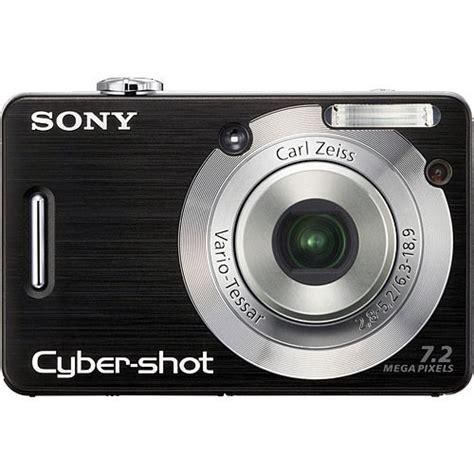 sony cybershot dsc w55 digital black dscw55b b h