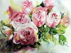 Aquarell Malen Blumen : rosen i aquarell auf arches 30x40cm my artist janina b ~ Articles-book.com Haus und Dekorationen