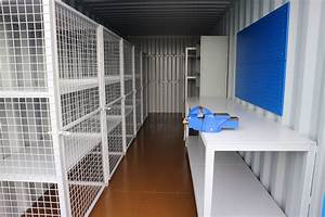 Workbench Fitted Inside a Shipping Container Conversion