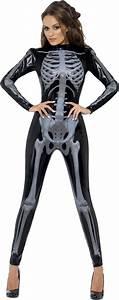 Halloween Skelett Kostüm : sexy halloween skelett kost m f r damen in schwarz ~ Lizthompson.info Haus und Dekorationen
