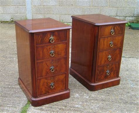 Bedside Drawers by Antique Furniture Warehouse Pair Antique Bedside Pair