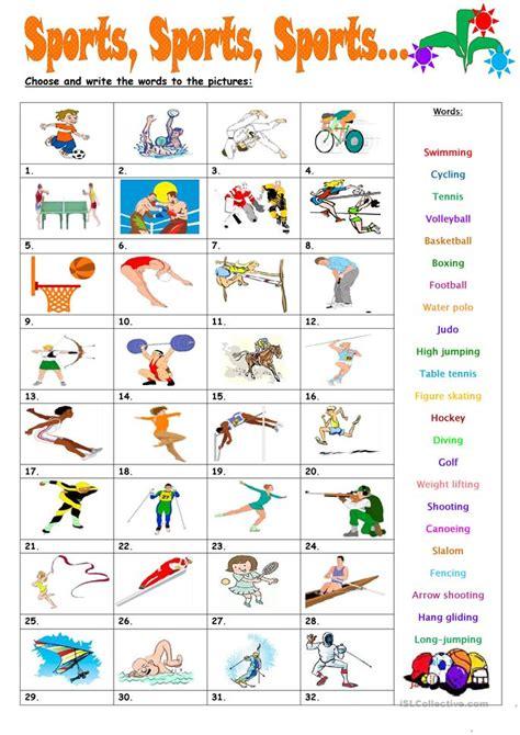 Sports, Sports, Sports Worksheet  Free Esl Printable Worksheets Made By Teachers