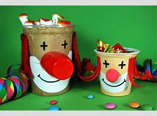 Clownköpfe basteln KinderspieleWeltde