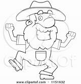 Prospector Clipart Happy Angry Coloring Dancing Cartoon Pickaxe Holding Illustration Cory Thoman Rf Royalty sketch template