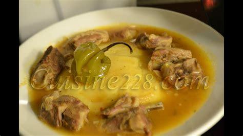 foufou fufu sauce claire cuisine ivoirienne avec de