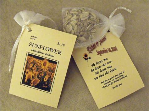 sunflower wedding favors ideas  pinterest