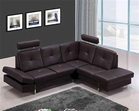 Contemporary Leather Sectional Sofas by Contemporary Leather Sectional Sofa In Brown 44l6020