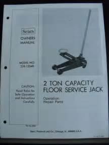 sears craftsman 2 ton floor service 328 12040 ebay