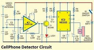 Cellphone Detector Using 555 Circuit