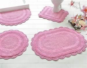 Tapis Rose Clair : tapis de bain fa on crochet 1900 g m2 becquet ~ Teatrodelosmanantiales.com Idées de Décoration