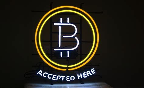 The next bitcoin halving that will take place during may 2020 is almost here. Accepted here: introducing the bitcoin neon sign - CoinDesk