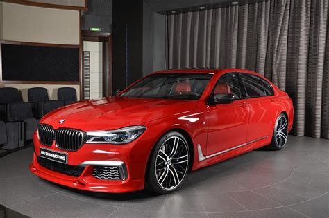 red bmw imola red bmw m760li xdrive with 3d design kit looks the