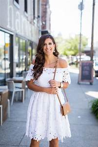 White Off the Shoulder Dress | A Southern Drawl