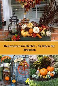 Steine Vor Der Haustür : dekorieren im herbst 45 herbstliche ideen f r drau en ~ A.2002-acura-tl-radio.info Haus und Dekorationen