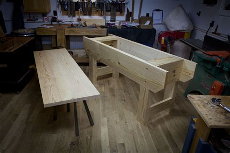 shop benches dogs  pinterest workbenches
