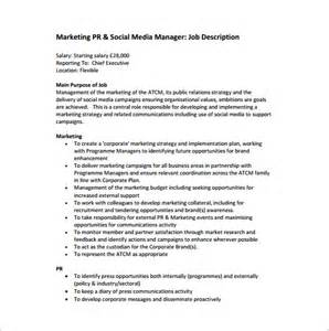 11 marketing manager description templates free