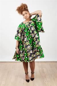 robe courte kaba encolure carree en wax pagne africain With robe évasée courte