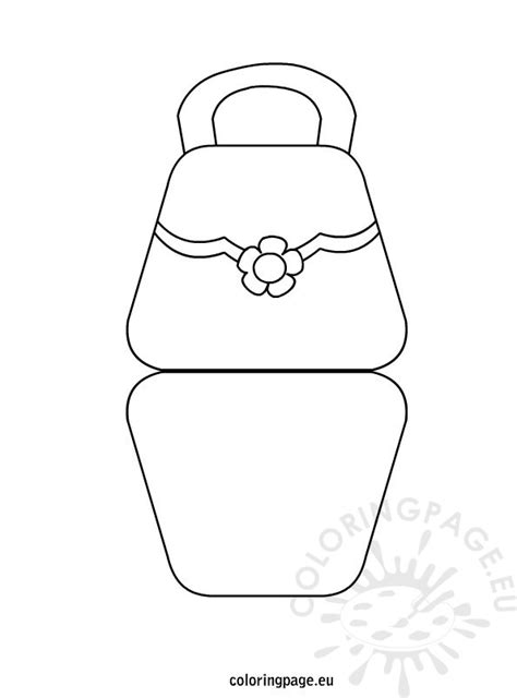 Bag Shaped Mother's Day Card – Coloring Page