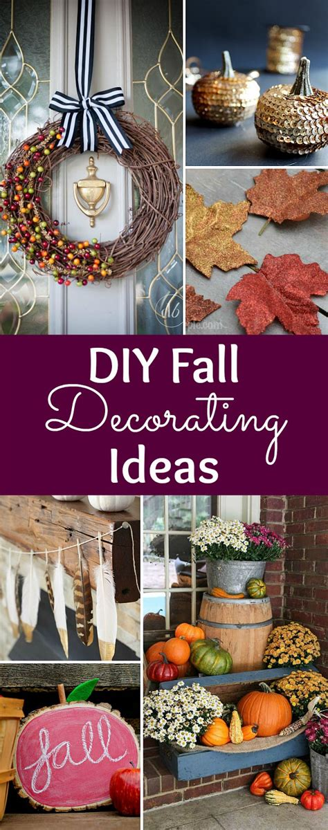 diy fall decor ideas diy fall decorating ideas