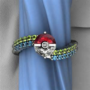 pokeball engagement ring anime jewelry rings jewelry