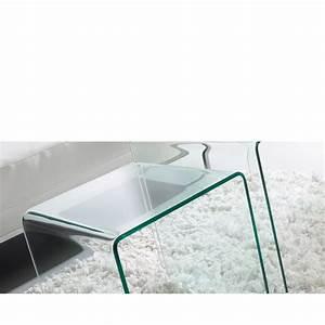Table D Appoint Miroir : table d 39 appoint en verre transparent burano par ~ Teatrodelosmanantiales.com Idées de Décoration
