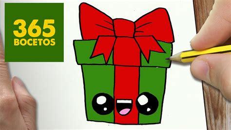 como dibujar un regalo para navidad paso a paso dibujos kawaii navide 241 os how to draw a gift