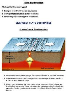 And occur at the boundaries between the plates. Worksheet: Plate Tectonics Study Guide and Practice ...