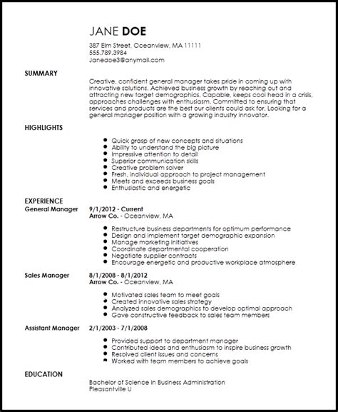 Manager Resume Template Free by Free Creative General Manager Resume Template Resume Now