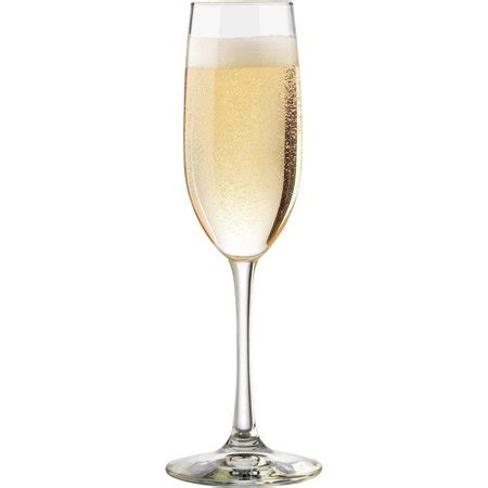 libbey vineyard  oz clear champagne glasses set
