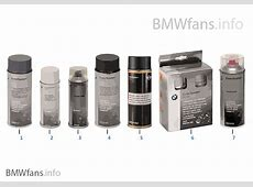 Special paint spray BMW Accessories Catalog