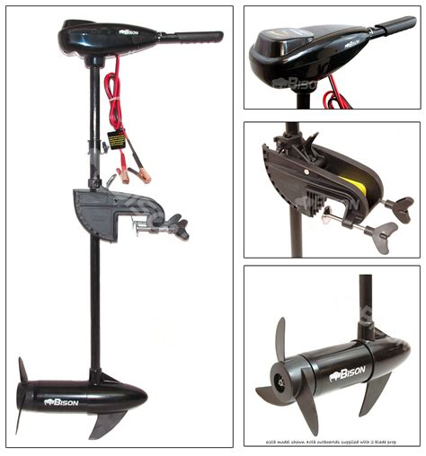 Electric Trolling Motor How Much Thrust by Bison 40 Lb Electric Outboard Trolling Motor
