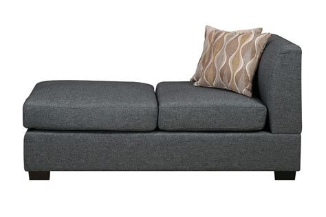 poundex f7971 grey fabric chaise lounge a sofa