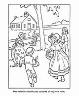Coloring Pages American Early Children Colonial Prairie Pioneer Printables America Sheets Laura Ingalls Usa Wilder Going Colouring Books Christmas Woods sketch template