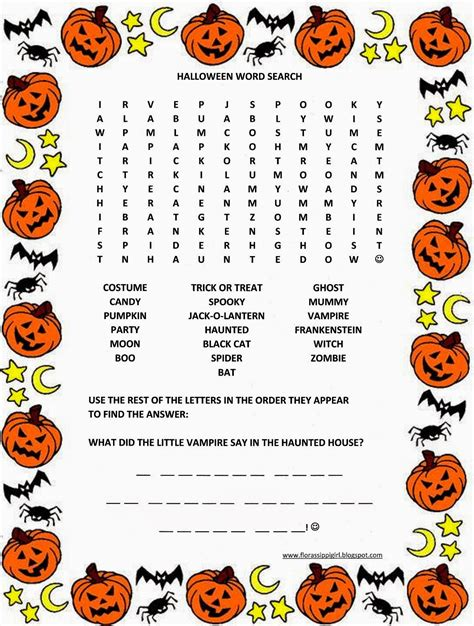 printable word searches for halloween festival collections